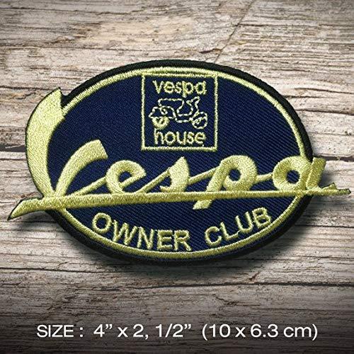 Vespa OWNER club T Sports Racing MOTORSPORT parche patch bordado con logotipo para planchar de hierro en apliques de recuerdo de accesorios