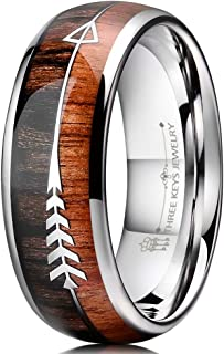 wooden wedding rings for her