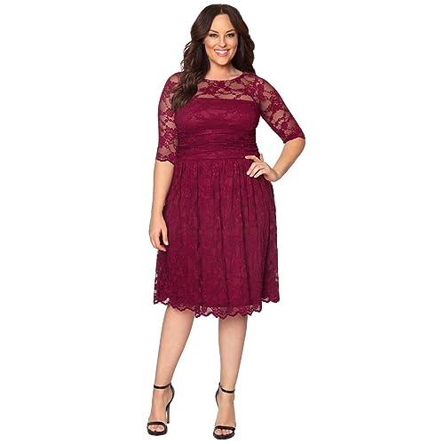 687a400e7a2c6 Kiyonna Women s Plus Size Luna Lace Cocktail Dress