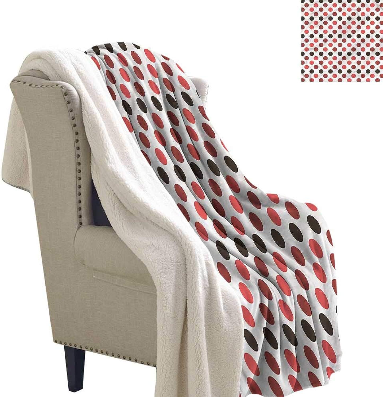 Beihai1Sun Nostalgic Blanket Small Quilt Polka Dots Retro Style Warm All Season Blanket for 60x32 Inch