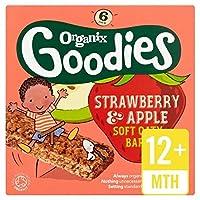 Organixグッズイチゴシリアルバーステージ4 6×30グラム (x 2) - Organix Goodies Strawberry Cereal Bar Stage 4 6 x 30g (Pack of 2) [並行輸入品]