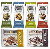 Gorilly Goods Paleo-Organic-Raw-Vegan Trail Mix Individual Snack Packs - VARIETY PACK: Hillside, Coast, Baja, Trail, Jungle & Forest (6 Count - 1 Pack of Each Flavor)