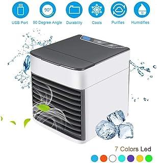 LINWEI Ventilador de enfriamiento portátil USB Acondicionador de Aire de Escritorio Aire Acondicionado Conveniente del USB del refrigerador de Aire del Ventilador Digital Mini humidificador de Aire