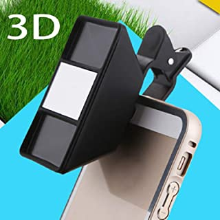 Artshu 1Pc Smartphone 3D Stereoscopic Lens 3D Camera Stereo Photos Fisheye Lens with Clip