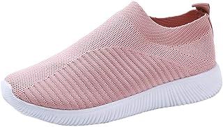 Chaussures d'extérieur pour femme - Maille décontractée - Semelles confortables - Chaussures de course à pied, de sport à ...