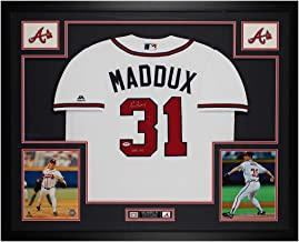 Greg Maddux Autographed White Atlanta Braves Jersey - Beautifully Matted and Framed - Hand Signed By Maddux and Certified ...