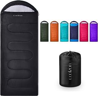 Coolzon Lightweight Backpacking Sleeping Bag for Adults Boys and Girls, Cold Weather Kids Sleeping Bag for All Season Hiki...