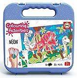 Educa - Colouring Activities: Dinosaurios Puzzle para Colorear, Multicolor...