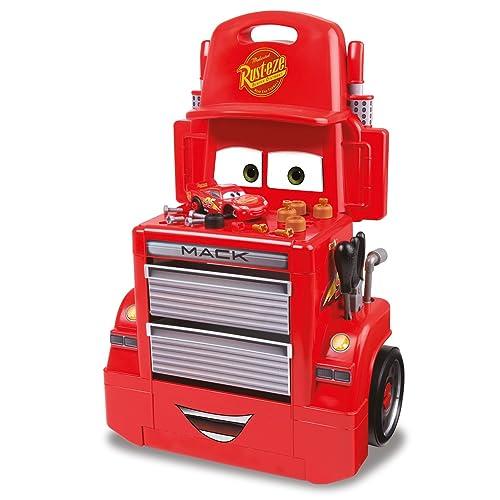 Smoby - 360208 - Cars 3 - Servante Mack Truck - + Accessoires et Voiture Flash Mc Queen