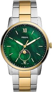 Fossil Reloj Analógico para Hombre de Cuarzo con Correa en Acero Inoxidable FS5572