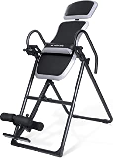 MaxKare Inversion Table with Adjustable Headrest and Lumber Support for Back Pain Relief