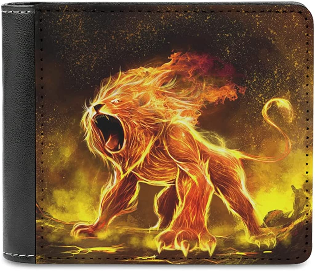 Bhqcflkwpz Fire Angry Tiger Bifold New Shipping Free Shipping Small Slim Purse Wallet Max 89% OFF Print