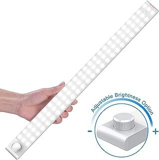 Luz Nocturna, Mejorar 78 LEDs Led Armario con Sensor de Movimiento Recargable 4 Modos con Cinta Adhesiva Magnética para Armario, Pasillo, Estantería, Escalera