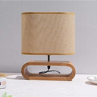 Lampe de Table Table de Chevet en Bois créative Petite Lampe de Table Lampe en Tissu Nordique variateur Interrupteur Chamb...