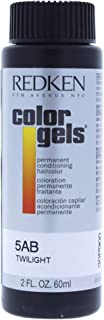 Redken Color Gels Permanent Conditioning Hair Color for Unisex, No. 5AB Twilight, 2 Ounce