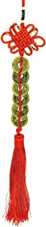 Betterdecor Feng Shui Handmade 6 Brass Chinese Ancient Coins Decorative Hanging Charm..