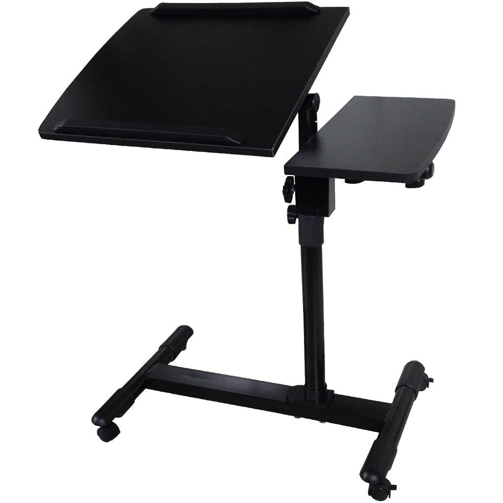 安心欠陥特徴Sun Ruck サイドテーブル セパレート型 高さ調節 角度調節 キャスター付き EA-ST03 ブラック