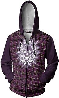enjoyfashion JoJo's Bizarre Adventure Anime Hoodie Kujo Jotaro Cosplay Zip Sweatshirt Jacket