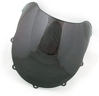Windshield WindScreen Double Bubble For Suzuki GSXR 600 750 1996-1999 (Black)