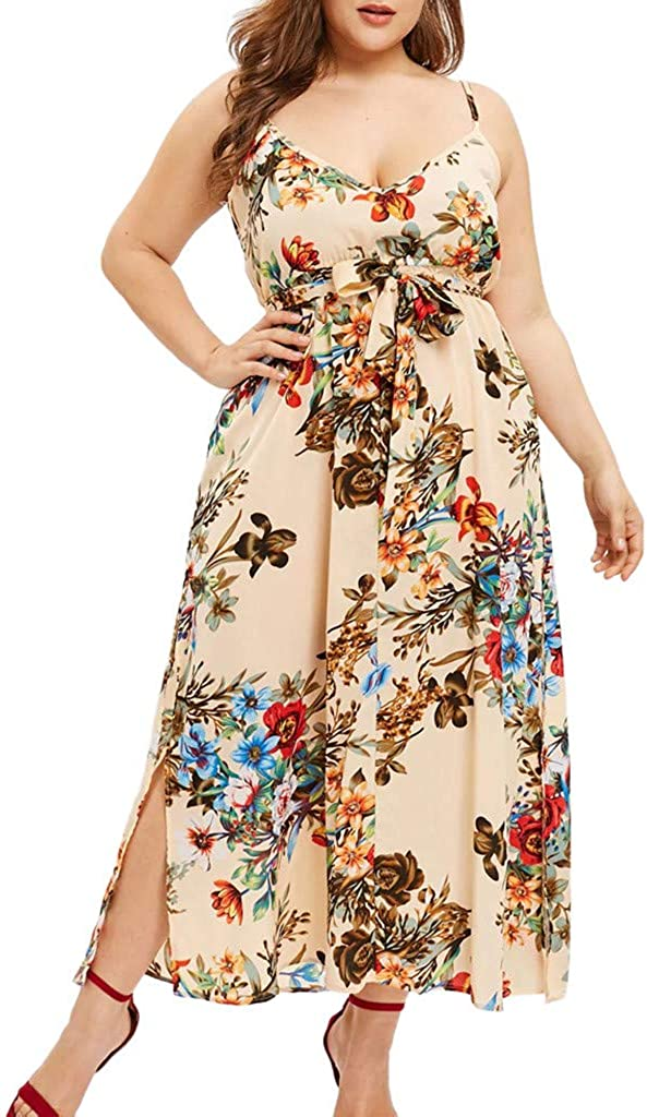KYLEON Women's Mesa Mall Dress Plus ! Super beauty product restock quality top! Size Floral Boho Sleeveless Ladies Sum