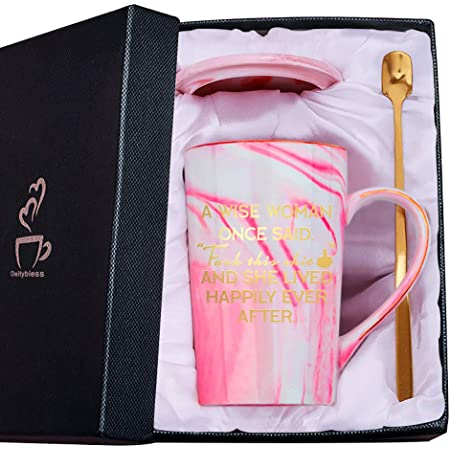 11oz Ceramic Marble Mug with Lid