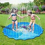 Faburo Aufblasbare Wasserspielmatte Splash Pad Wassergefüllte Spielmatte Wassermatte Pool Kinder