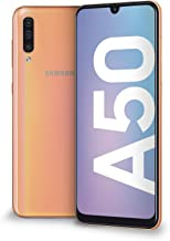 "Samsung Galaxy A50 Display 6.4"", Coral, 128 GB Espandibili, RAM 4 GB, Batteria 4000 mAh, 4G, Dual Sim, Smartphone, Android 9 Pie, (2019) [Versione Italiana]"