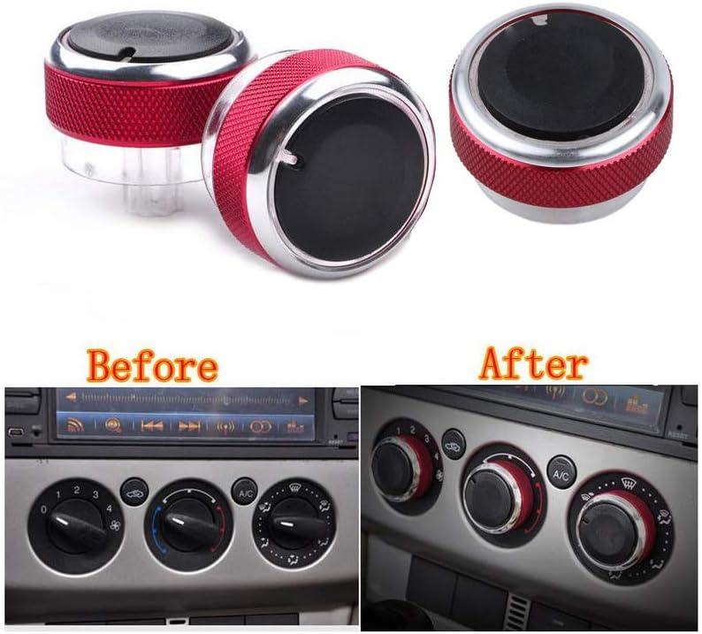 VIGORWORK 3pcs Special sale item Regular discount Set Air Conditioning knob AC Control Heat Switch