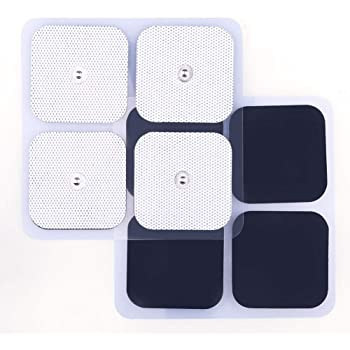 TENS Unit Pads, 40 Pcs 2x2 Snap Electrodes, Reusable Tens Pads Replacement for EMS Muscle Stimulator, Using 3.5mm Snap Connector