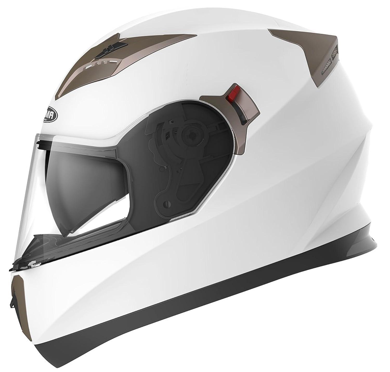 YEMA Helmet Unisex-Adult Motorcycle Full Face DOT Helmet YM-829 (White, XXL)