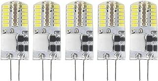 G4 LED Light Bulb - Attaljus G4 2.5W AC/DC 12V G4 Bi Pin Lights, 20W Halogen Replacement Bulb, No Flicker G4 Landscape Lighting Bulbs, Daylight 6000K T3 Bulbs for RV, Ceiling Fans Light (5 Packs)