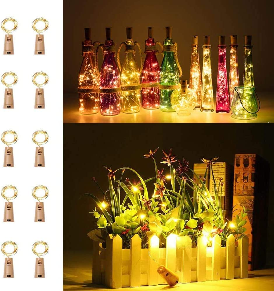 LiyuanQ 10 Pack 20 LED Wine Cork Selling and selling Bargain sale Lights Copper Strin Bottle Wire