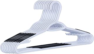 AzxecVcer Plastic Hangers with Black Non-slip Pads Clothes/Suit Hangers,Perfect for Dresses, Blouses and Pants, Shirts, Ties, Scarves and Sweaters,50 pack