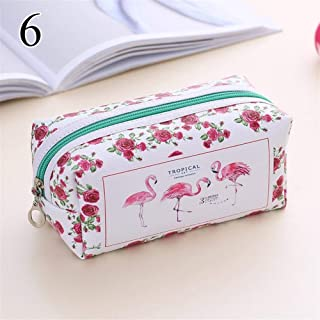 Large Capacity Pencil Case for Boys and Girls 1PCS Kawaii Flamingo Pencil Case Creative Pen Case Cute Large Capacity Pencilcase For Girls Gifts Back To School Office Supplies ( Color : 6 )