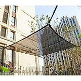 KKJKK Paño de la Cortina Protector Solar Malla Sombra 55% Resistente A Los UV Toldo de Protección Solar Pabellón Malla Lona para Invernadero Flores Plantas Al Aire Libre Patio,Negro,3x15m