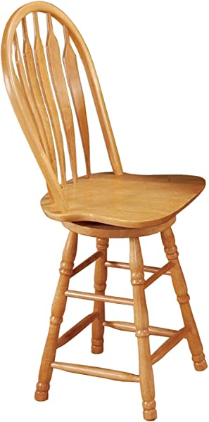 Sunset Trading Swivel Barstool 24 Light Oak Finish