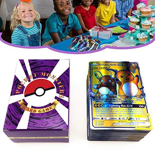 presentimer 120 STÜCKE Pokemon Spielkarten Visuelle Wahrnehmung für Kinder Entwicklungskarten für Mega-Karten GX-Karten Tag Teams