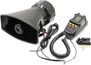 Romacci Car Megaphone 5 Tone Alarm Horn 12V 110dB Loud Speaker Fire Alarm Ambulance Blaring Police Siren