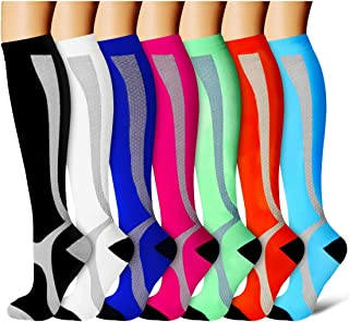 Compression Socks for Men and Women - Best for Running, Athletic Sports, Varicose Veins, Travel
