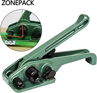 ZONEPACK Green Heavy Duty Tensioner Cutter Cord Strapping Machine Packing Tools for PET and PP Strap Size: 3/8
