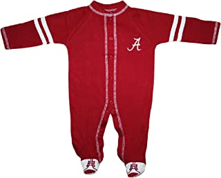 University of Alabama Crimson Tide Sports Shoe Footed Baby Romper