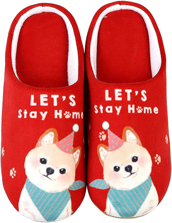 ALOTUS Unisex Cute Dog Anti Slip Soft Warm Unique Slippers Indoor