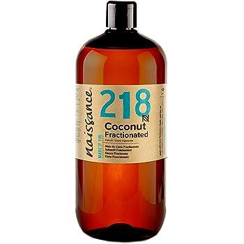 Naissance Aceite Vegetal de Coco Fraccionado n. º 218 – 1 Litro - Puro, natural, vegano, sin hexano, no OGM - Ideal para aromaterapia, masajes y recetas artesanales.