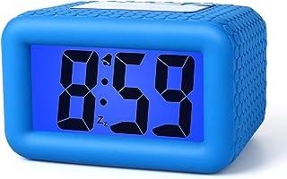Plumeet Digital Clock - Kids Alarm Clocks with Snooze and Backlight - Simple Travel Clocks Large LCD Display - Ascending S...