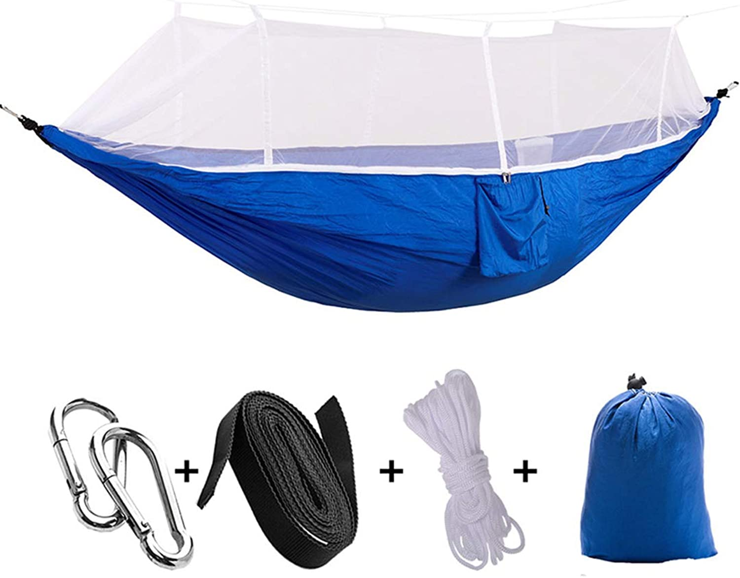 Portable Hammock Double Single Folded Person in Bag Mosquito Hook Hanging Bed for Camping Travel Kits Outdoor Camping