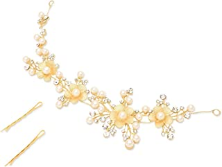 YouBella Ethnic Jewelry Bollywood Wedding Bridal Party Hair Chain for Women and Girls