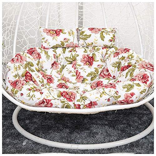 SFSGH 130x95cm Cuscini per sedie pensili per Amaca a Uovo Cuscini per sedie sospesi a Cesto, Doppio Cuscino per Sedia a Dondolo Impermeabile, per Interni, Esterni, Patio, Giardino, spiag