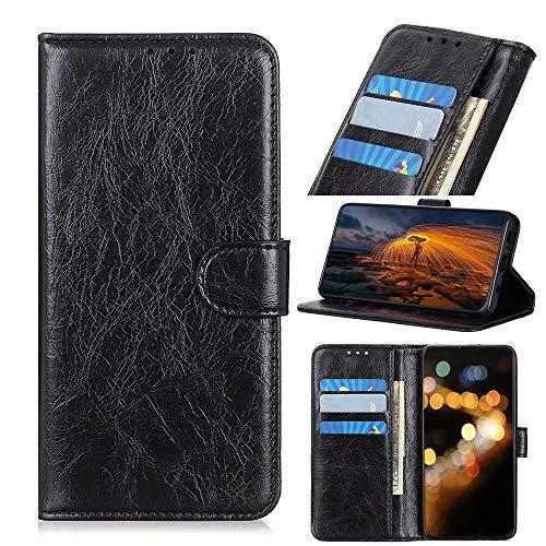 FanTing Capa compatível com LG G8 ThinQ, capa flip com [compartimento para cartão] [suporte] [carteira], capa carteira magnética de couro PU para LG G8 ThinQ. (preta)