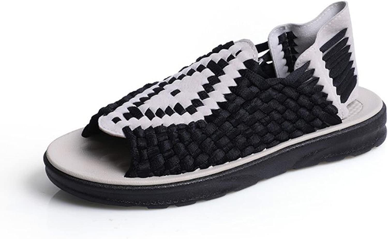 DANDANJIE Men's shoes Fabric Summer Comfort Sandals For Casual Outdoor Beige Black Red