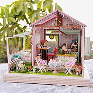 DIY Wooden Dolls House Handcraft Miniature Kit- Dream Park Model & Furniture